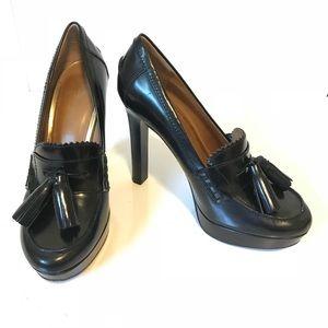 Coach Alisia Pump Heel Platform Tassle Loafer 8